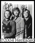 Autographs, The Bee Gees Signed 8 x 10 Photo