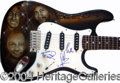 Autographs, The Bee Gees Signed Custom Design Guitar