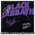 "Autographs, Black Sabbath Signed ""Master of Reality"" Album"