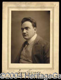 Autographs, Enrico Caruso Rare Signed Portrait Photo