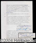 Autographs, Nat King Cole Very Rare Signed Document