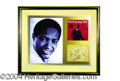 Autographs, Sam Cooke Nice Framed Signature Display