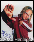 Autographs, Korn--Jonathan Davis Signed 8 x 10 Photo