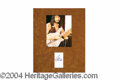 Autographs, John Entwistle (The Who) Signature Display