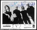Autographs, Garbage Group Signed 8 x 10 Photo