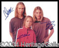 Autographs, Hanson Group Signed 8 x 10 Photo