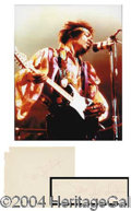 Autographs, Jimi Hendrix Rare Early Signature