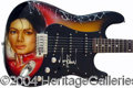 Autographs, Michael Jackson Signed Custom Guitar
