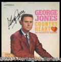 Autographs, George Jones Signed Vintage Album