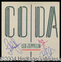 "Autographs, Led Zeppelin Signed ""CO/DA"" Album"