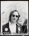 Autographs, John Lennon Signed Photo w/Caricature