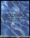"Autographs, Madonna Signed ""Drowned World Tour"" Program"