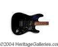 Autographs, Metallica Rare Signed Black Guitar