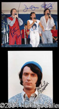 Autographs, The Monkees Signed 8 x 10 Photo Lot