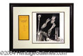 Autographs, Jim Morrison Signed Bank Check Display