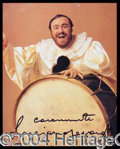 Autographs, Luciano Pavarotti Signed 8 x 10 Photo