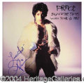"""Autographs, Prince Signed """"Signed of The Times"""" Album c.1987"""