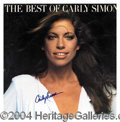 "Autographs, Carly Simon Signed ""Best Of Carly Simon"" Album"