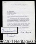 Autographs, Frank Sinatra Signed Document
