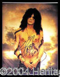 Autographs, Slash Cool Signed 11 x 14 Photo