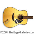 Autographs, Loretta Lynn & Sissy Spacek Signed Guitar