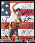 Autographs, Bruce Springsteen E Street Band Signed Photo