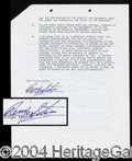 Autographs, Ringo Starr Signed Contract Agreement