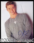 Autographs, Justin Timberlake Signed 8 x 10 Photo