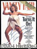 Autographs, Tina Turner Signed Vanity Fair Magazine