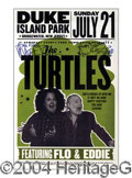 Autographs, The Turtles Signed Concert Poster