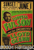 Autographs, Lowell Fulson 1950's Original Concert Poster