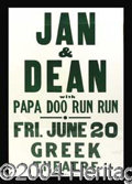 Autographs, Jan and Dean Original Concert Poster