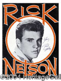 Autographs, Rick Nelson Signed First Tour Program