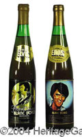 Autographs, Elvis 1978 Collector's Wine Bottles (2)