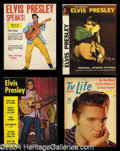 Autographs, Elvis Presley Original Magazine Lot (4)