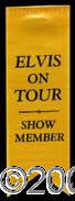 Autographs, Elvis Presley 1970's Concert Tour Badge
