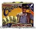 Autographs, John Wayne Collectors Beer Case