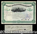 Autographs, August Belmont II Signed Stock Certificate