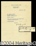 Autographs, Richard E. Byrd Typed Letter Signed