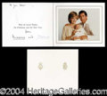 Autographs, Charles and Diana Signed 1982 Christmas Card