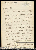 Autographs, Charles Darwin Rare Handwritten Letter Signed