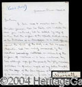 Autographs, Earl of Carlisle Handwritten Letter Signed