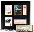 Autographs, Thomas Edison Signed Bank Check Display