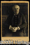 Autographs, Thomas Edison Signed Studio Portrait