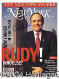 Autographs, Rudy Giuliani Signed New Yorker Magazine