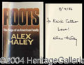 "Autographs, Alex Haley Signed ""Roots"" Hardcover Book"