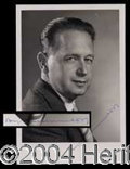 Autographs, Dag Hammarskjold Rare Signed Photo