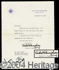 Autographs, Hubert H. Humphrey Unique Typed Letter Signed