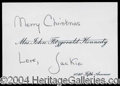 Autographs, Jacqueline Kennedy Unique Signed Card