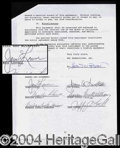 Autographs, James Lovell (Apollo 13) Rare Signed Document